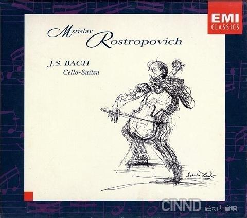 Mstislav Rostropovich -《巴赫无伴奏大提琴组曲》(J.S. BACH Cello-Suite) EMI